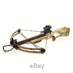 175 lb Camouflage Compound Crossbow Bow +Red Dot Scope +All Accessories 150 180