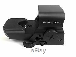 ADE RD2-006 Crusader 8 Reticle Green and Red Dot Reflex Sight with QD Mount