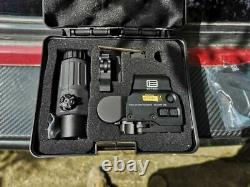 AIRSOFT 558 G33 Replica EOtech Magnifier Red Dot Holographic Sight Black