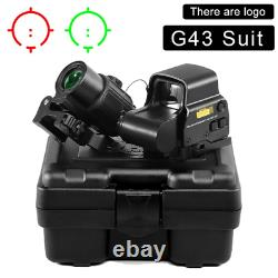 AIRSOFT Eotech 558 Sight G43 Magnifier REPRODUCTION Scope 3X Mount Black Red Dot