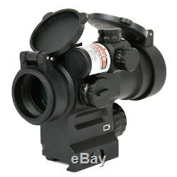AT3 LEOS Red Dot Sight with Integrated Green Laser Sight & Riser