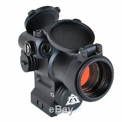 AT3 LEOS Red Dot Sight with Integrated Red Laser Sight & Riser