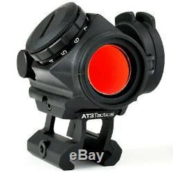 AT3 Tactical 4x Magnified Red Dot Kit RD-50 Red Dot Sight with 4xRDM Magnifier