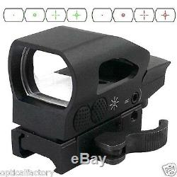 Ade Optics RD2-005 Tactical 4 Reticle Holo Reflex Sight Red Green Dot Rifle