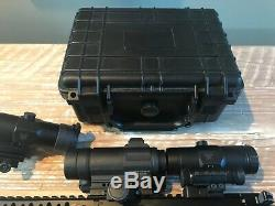 Aimpoint COMPM4S Red Dot Sight lot with 2 Vortex VMX 3T magnifiers