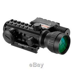 Barska AC11324 2x30 IR Tactical Red Dot Sight & GLX Green Laser Combo