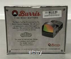 Burris FastFire III Red-Dot Reflex Sight 3 MOA Dot With Picatinny Mount 300234