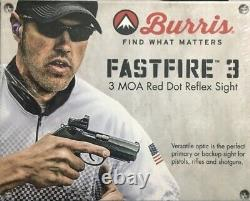 Burris FastFire III Red Dot Reflex Sight 3 MOA Picatinny Mount 300234 with Lucas