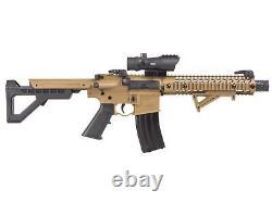 Crosman DPMS SBR Full-Auto CO2 BB 0.177 Air Rifle Kit With 1x30mm Red Dot Sight