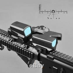 Dual-Enhanced View Optic Red Dot Sight Rifle Scope Magnifier with LCO Red Dot