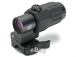 EOTech G33 3x Magnifier for Red Dot Sights with STS Mount BLACK