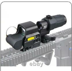 G33 3X Sight Magnifier With Switch to Side QD Mount + 558 Red Green Dot Clone