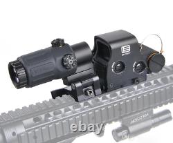 G33 3x Sight Magnifier With Switch Side Qd Mount + Tactical Scope 558 Red Dot