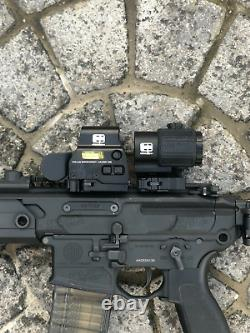 G43 3x Sight Magnifier Switch Side Qd Mount + Tactical Scope 558 Red/Green Dot