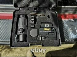 HHS 558+G33 Magnifier Red Dot Holographic Sight Tactical Hunting Eotech Scope
