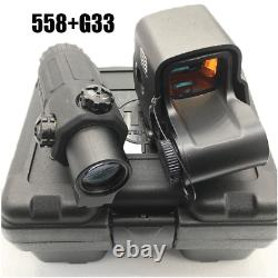 HHS Holographic Red Green Dot 558+G33 Magnifier Airsoft Scope Sight combination