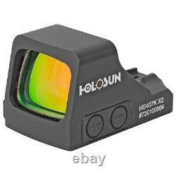 HOLOSUN HS407K X2 RED DOT SIGHT 6 MOA TRIJICON RMRcc 365XL SHIELD HELLCAT PPS