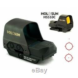 HOLOSUN HS510C 65MOA Circle 2MOA Red Dot 65MOA Circle Open Reflex Rifle Sight
