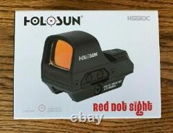 HOLOSUN HS510C 65MOA Circle 2MOA Red Dot Open Reflex 1X Sight Solar FAST SHIP