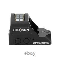 Holosun HS407C X2 Red Dot Handgun Open Reflex Sight 2 MOA RMR-compat FAST SHIP