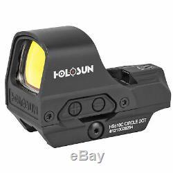 Holosun HS510C Open Reflex 2MOA Dot & 65MOA Circle Red Dot Sights