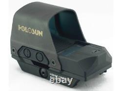 Holosun HS510C Reflex Red Dot Sight 1x Selectable Reticle QD Mount Solar Battery