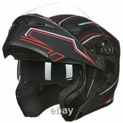 ILM Motorcycle Helmet Modular Flip Up Mountain Bike Helmet Motorbike Helmet DOT