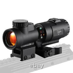 MRO Red Dot Sight 3X Magnifier Combo Tactical Optics Scopes Holographic Red Dot