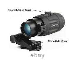 Micro Red Dot Scope with 3x Flip to Side Magnifier Combo Aimpro Red Dot