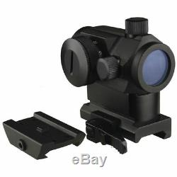 New Micro Dual (Red/Green) Red Dot Sight With QD Riser Mount, Low Profile Base