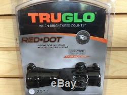 New Truglo Red Dot Sight 2x42mm 2 Power Scope 2.5 MOA TG8030B2