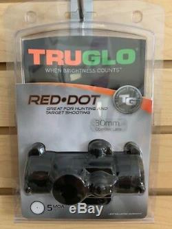 New Truglo Red Dot Sight 30mm Scope 5 MOA TG8030B