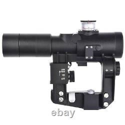 PK-AT Russian Red Dot Sight. Rifle Scope Collimator Side Rail. Open Knobs BelOMO