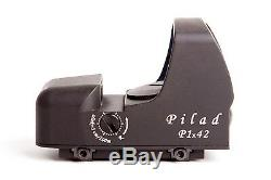 Pilad P1x42 Weaver. Russian Red Dot Scope Collimator Sight. 3 MOA. VOMZ