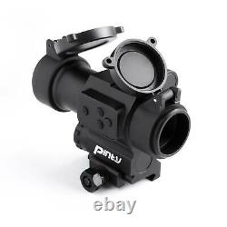 Pinty Pro 1x 30mm Red Dot Sight with Red Laser Sight 2 MOA Red Dot Scope withFlip Up