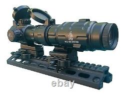 Red Dot Scope with 3x Flip to Side Magnifier Combo UTG Rifle Scope Leapers