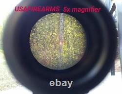 Red Dot Sight & 1.5 5x VARIABLE MAGNIFIER with FTS Mount eotech aimpoint scope