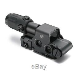 Reflex Holographic Red Green Dot 558+G33 Magnifier Airsoft Scope Sight QR Black
