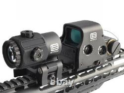 Reflex Holographic Red Green Dot 558+G43 Magnifier Airsoft Scope Sight QR Black