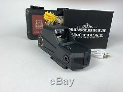 Rustbelt Tactical Motion Activation Black Holographic Red Dot Reflex Sight Scope