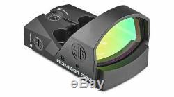 SIG SAUER Romeo1Pro 1x30mm Red Dot Reflex Sight Black 6 MOA Fits Pro Cut M17 M18