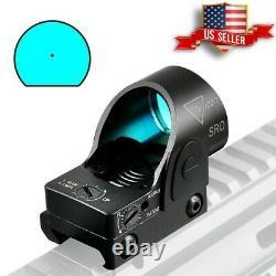 SRO Red Dot Sight Scope Reflex Tactical Moa 20mm Hunting RMR Glock Pistol US