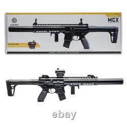 Sig Sauer MCX Air Rifle. 177 Cal CO2 Powered with Micro Red Dot Sight Black
