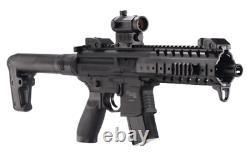 Sig Sauer MPX. 177 Cal Air Rifle CO2 30 Round Pellet Gun with Red Dot Sight, Black