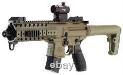 Sig Sauer MPX. 177 Cal Co2 30 Round SIG20R Red Dot Air Rifle Flat Dark Earth