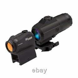 Sig Sauer ROMEO5 Red Dot Sight 2MOA Dot withJULIET3 Magnifier SORJ53101 Black