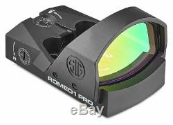 Sig Sauer Romeo1Pro 1x30mm Red Dot Sight, 3 MOA Dot Reticle, Aircraft SOR1P100