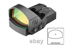 Sig Sauer Romeo1Pro 1x30mm Red Dot Sight, 3 MOA Dot Reticle, Black, SOR1P100
