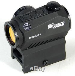 Sig Sauer Romeo5 1x20mm 2 MOA Red Dot Sight with Mounts SOR52001
