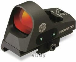 Sig Sauer SOR31002 Romeo 3 Miniature Reflex Sight with Riser 1x25mm 3 MOA Red Dot
